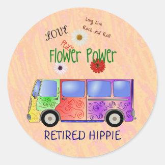RETIRED HIPPIE sticker