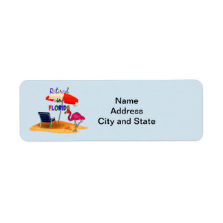 Retired in Florida, whimsical address label