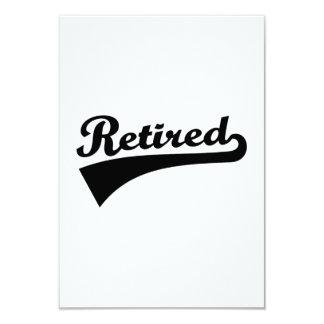Retired 9 Cm X 13 Cm Invitation Card