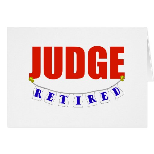 RETIRED JUDGE GREETING CARDS