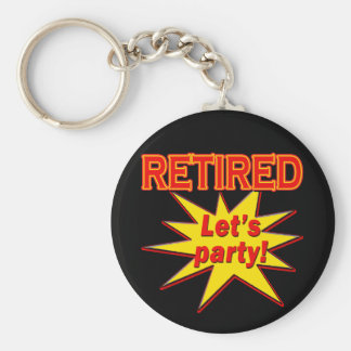 RETIRED - LET'S PARTY Tshirts and gifts Basic Round Button Key Ring