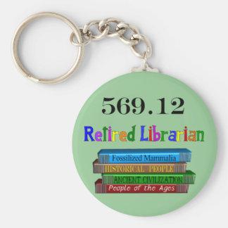 Retired Librarian 569.0 (Dewey Decimal System) Keychain