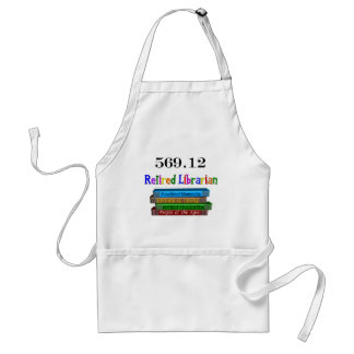 Retired Librarian 569.0 (Dewey Decimal System) Standard Apron