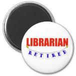 RETIRED LIBRARIAN FRIDGE MAGNETS