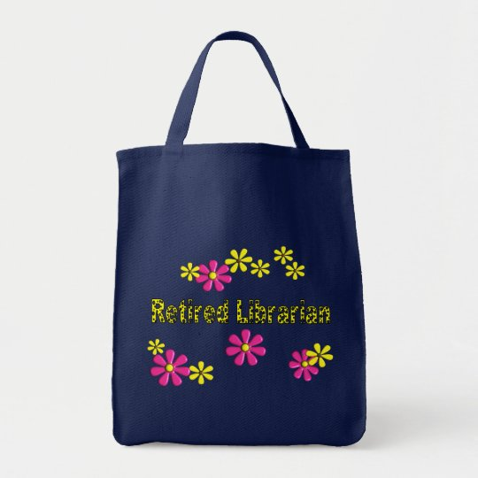 Retired Librarian Gifts Daisies Pattern Tote Bag