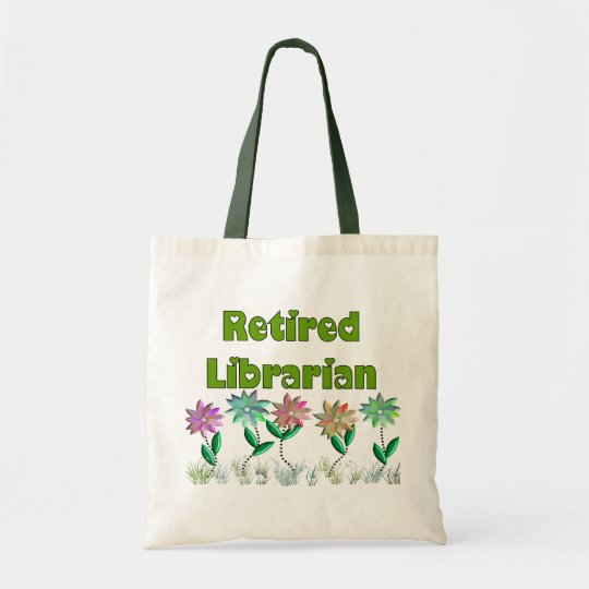 "Retired Librarian ""Spring Sensation"" Tote Bag"