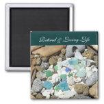 Retired & Loving Life Ocean Beach magnets Seashell