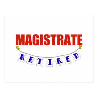 RETIRED MAGISTRATE POSTCARD
