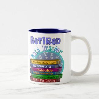 Retired Math Teacher Gifts Two-Tone Mug