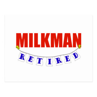 RETIRED MILKMAN POSTCARD