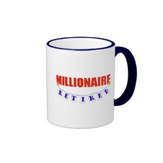RETIRED MILLIONAIRE COFFEE MUGS