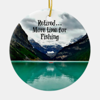 Retired...More Time for Fishing Christmas Ornament