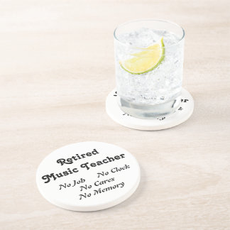 Retired Music Teacher Sandstone Coaster