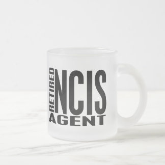Retired NCIS Agent 10 Oz Frosted Glass Coffee Mug