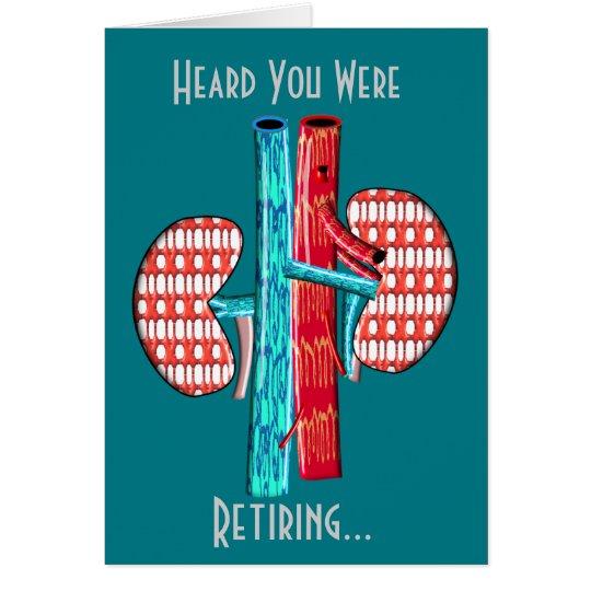 Retired Nephrologist Kidney Art Card
