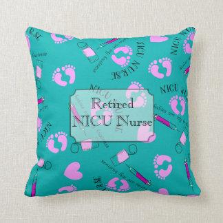 Retired NICU Nurse Teal Cushion