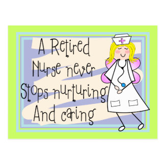 Retired Nurse Angel Art Cards & Gifts Post Card