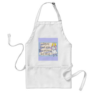Retired Nurse Angel Art Cards & Gifts Standard Apron