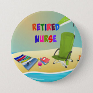 Retired Nurse, Fun in the Sun 7.5 Cm Round Badge