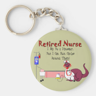 Retired Nurse Gifts Basic Round Button Key Ring
