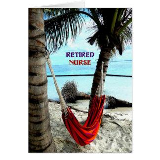 Retired Nurse - Hammock at the Beach Card