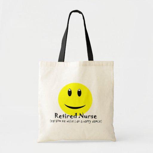 Retired Nurse HAPPY DANCE SMILEY Tote Bag