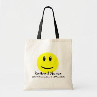 Retired Nurse HAPPY DANCE SMILEY Budget Tote Bag