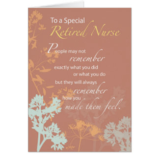 Retired Nurse, Nurses Day Wildflowers on Brown Card
