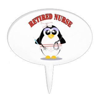 Retired Nurse Penguin (female) Cake Pick