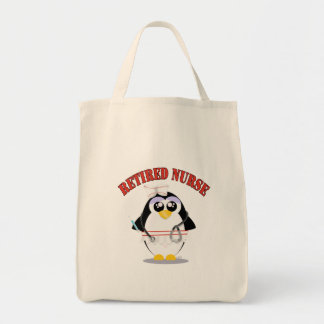 Retired Nurse Penguin female Tote Bag