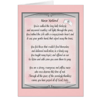Retired Nurse Poem gifts by ~~Gail Gabel, RN Card