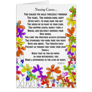 Retired Nurse Poem Greeting Card #18
