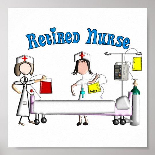 Retired Nurse Poster (Customisable)
