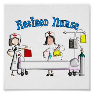 Retired Nurse Poster (Customizable)