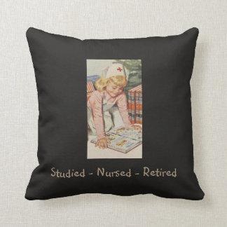 Retired Nurse - Retro Fun Throw Pillow