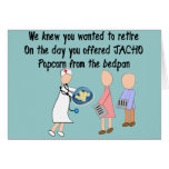 Retired Nurse Story Art Gifts Greeting Card