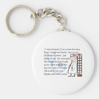 """""""Retired Nurse""""  Story Art--Unique Gift Items Basic Round Button Key Ring"""