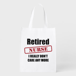 Retired Nurse (UK spell) Reusable Grocery Bag