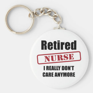 Retired Nurse (US spell) Key Ring