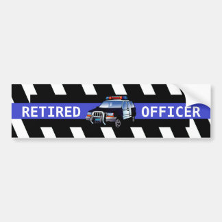 RETIRED OFFICER BUMPER STICKER