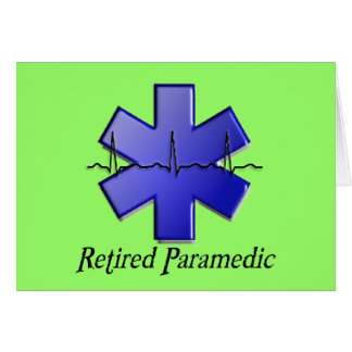 Retired Paramedic Gifts Card