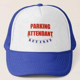 RETIRED PARKING ATTENDANT TRUCKER HAT