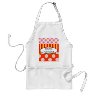 Retired Pharmacist Apron Polka Dots