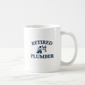 Retired plumber coffee mug