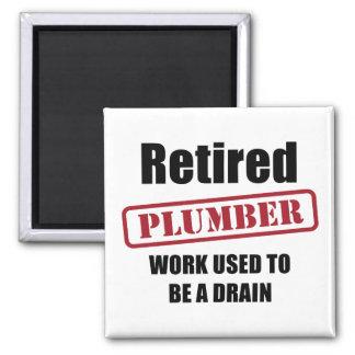 Retired Plumber Magnet