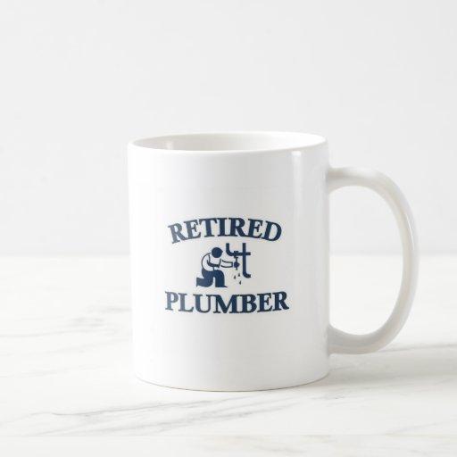 Retired plumber coffee mugs