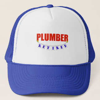 RETIRED PLUMBER TRUCKER HAT
