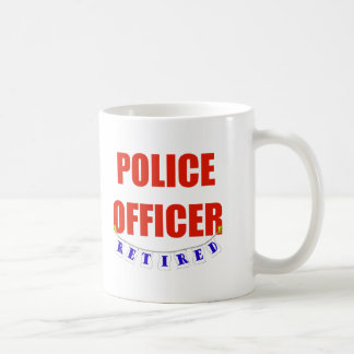 RETIRED POLICE OFFICER BASIC WHITE MUG