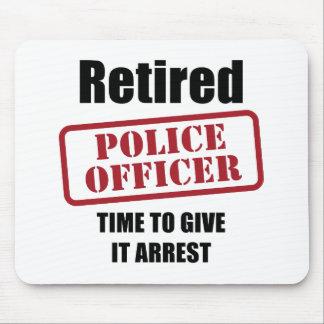 Retired Police Officer Mouse Mat