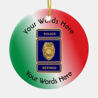 Retired Police Officer Shield Christmas Ornament